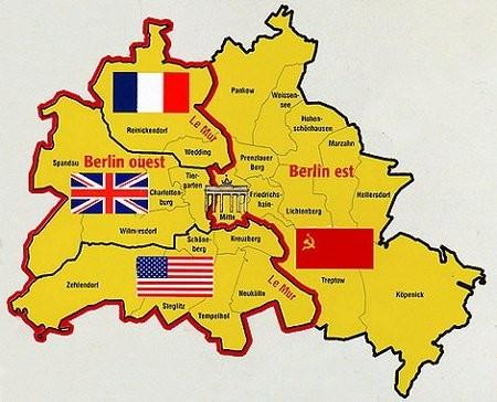 12 juillet 1945, Berlin divisée en 4 zones
