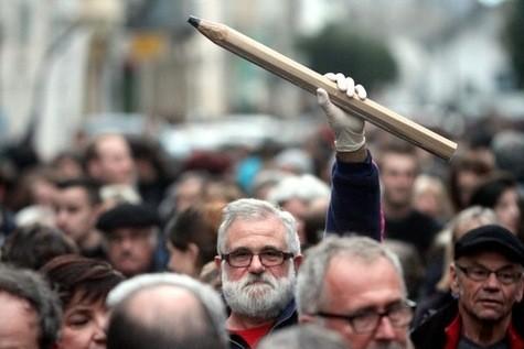 Dimanche 11 janvier 2015, marche républicaine en hommage aux victimes de Charlie Hebdo