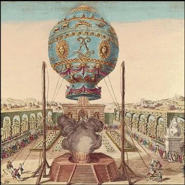 le 4 juin 1783, les frères Montgolfier s'envoient en l'air